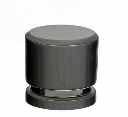 "Small Oval Knob 1"" - Brushed Satin Nickel"